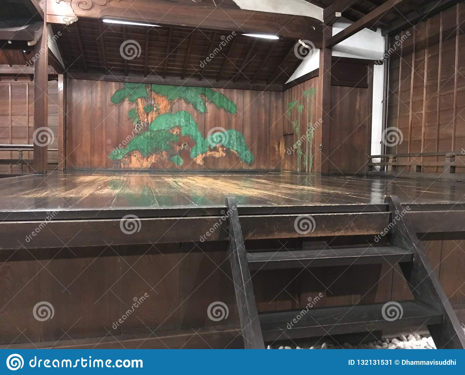 Een oud Noh-theater in Kyoto