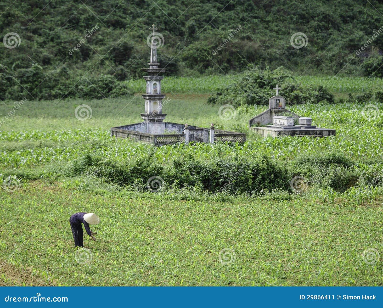 Oude graven in Vietnam