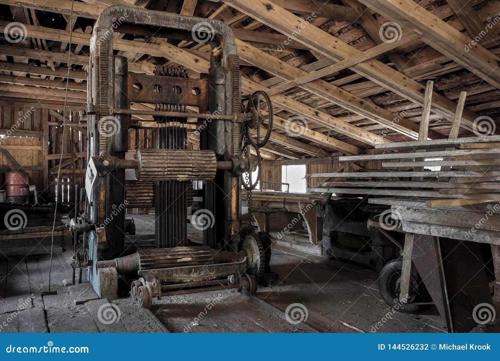 Een oude zaagmolen in Zweden