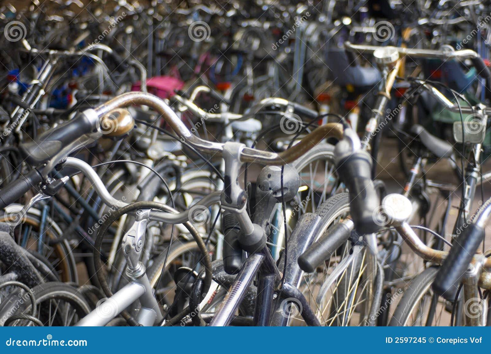 Een overzees van fietsen