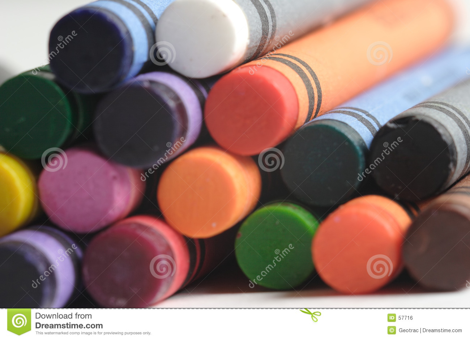 Een patroon van multicolored kleurpotloden