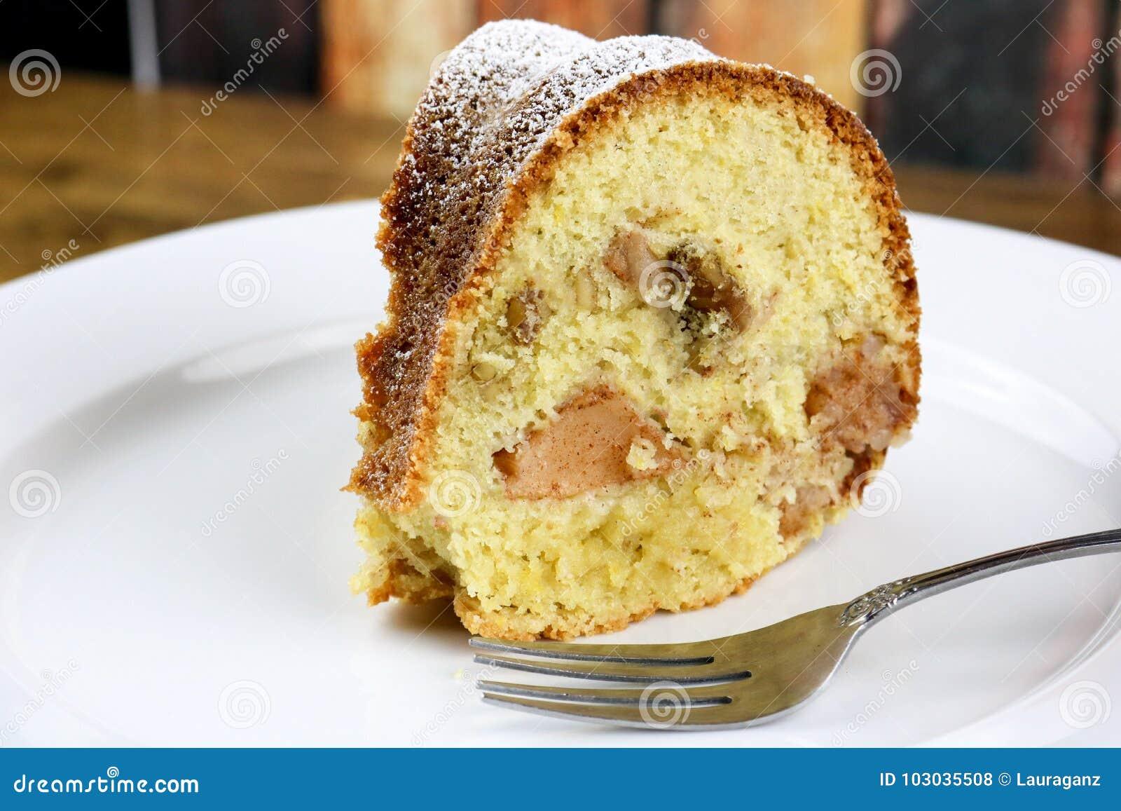 Een Plak van de Cake van Apple Bundt