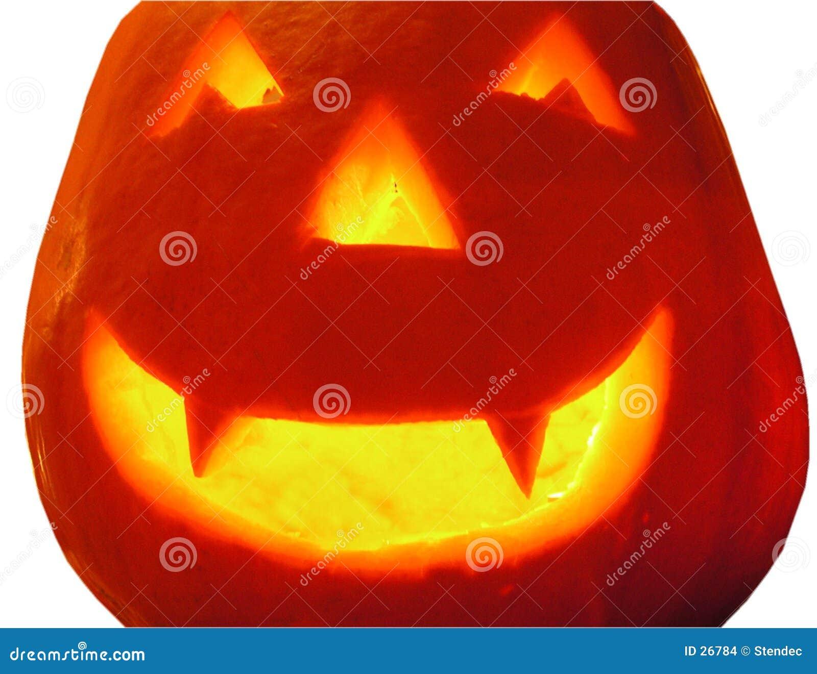 Een pompoen Hallowe en