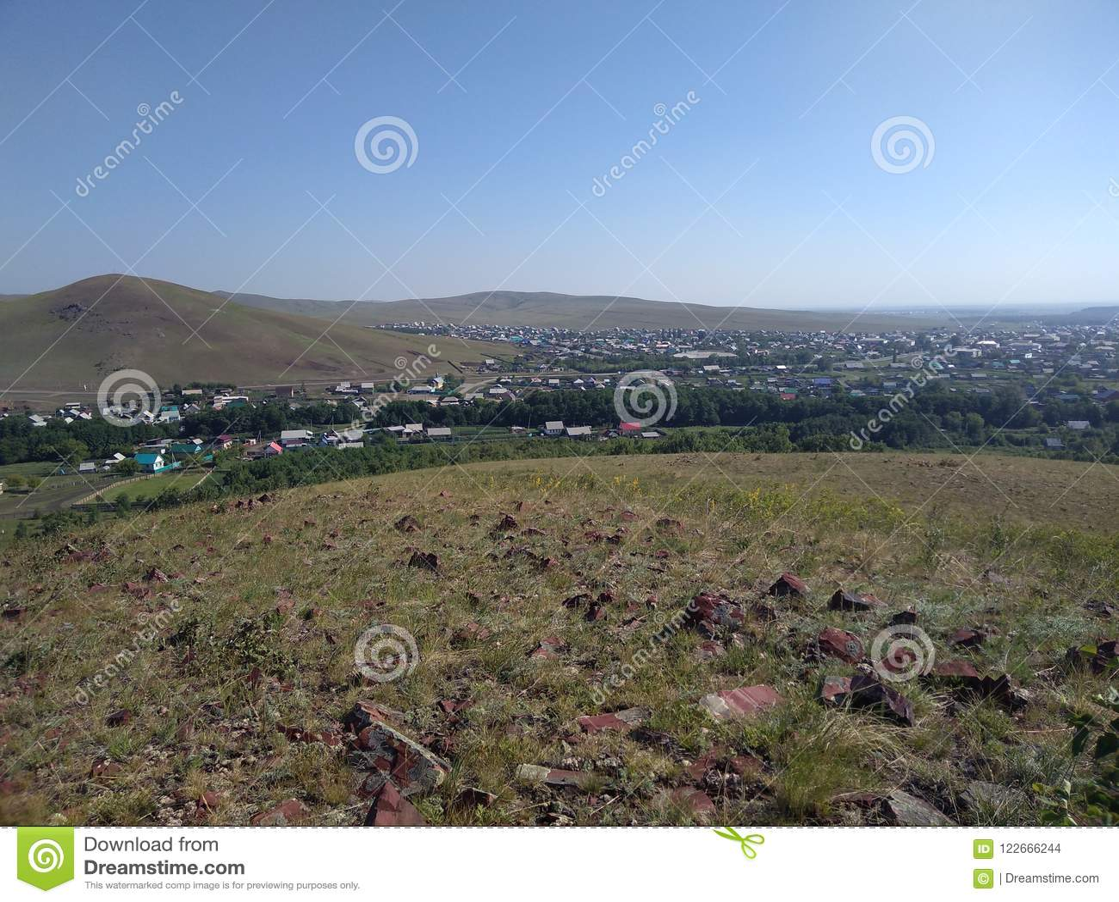 Een provinciale die stad in de verre provincies van Rusland wordt gevestigd