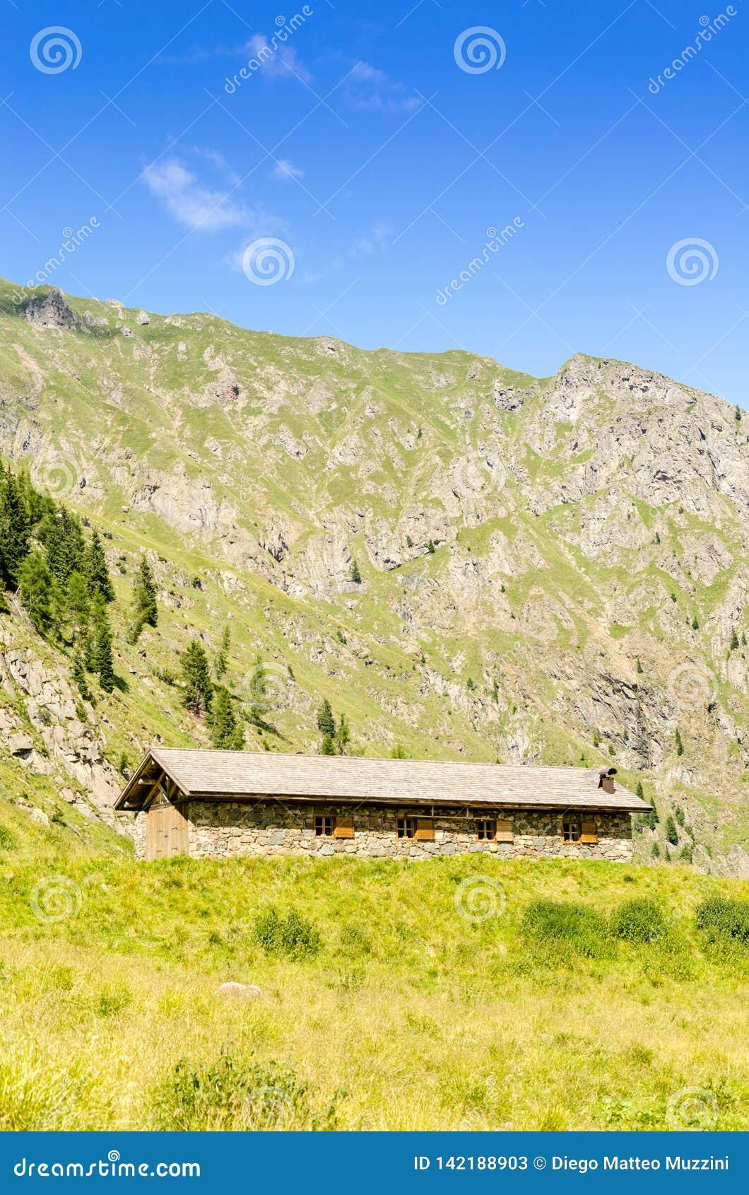 Een recreatief huis van alpen