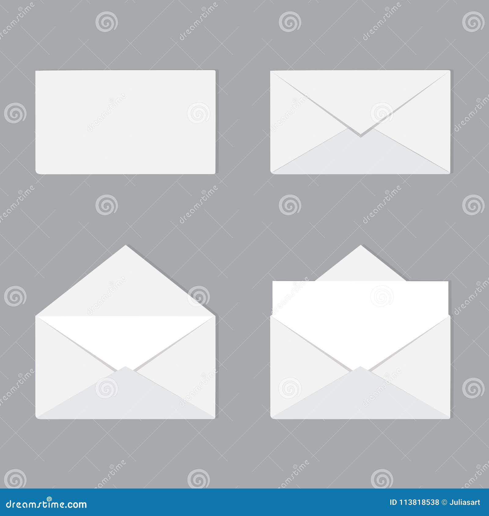 Een reeks open en gesloten geweeste enveloppen met brief Correspondentie,