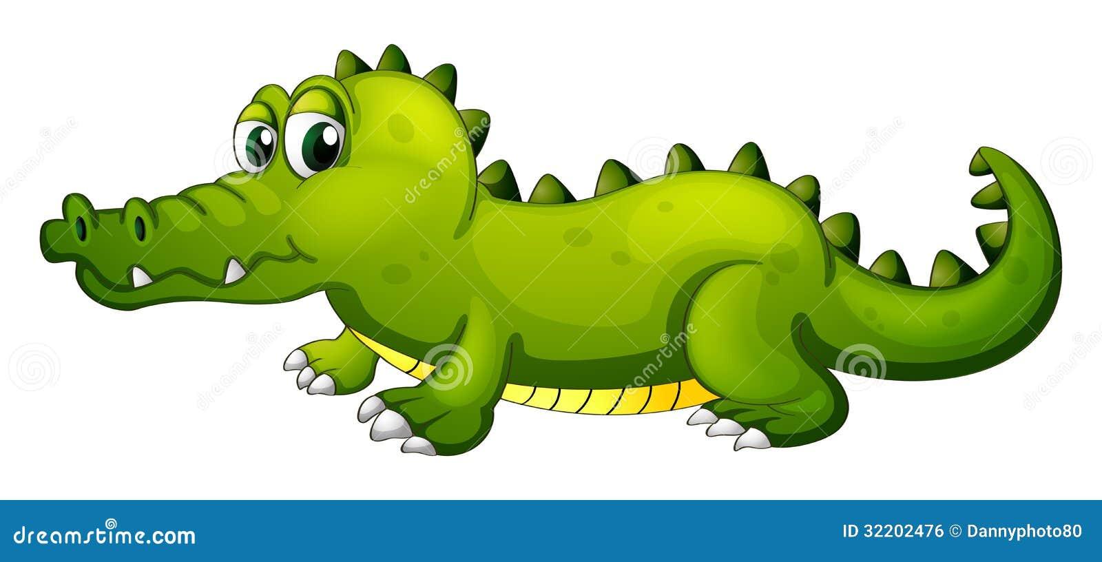 Een Reuze Groene Krokodil Royalty Vrije Stock Afbeelding