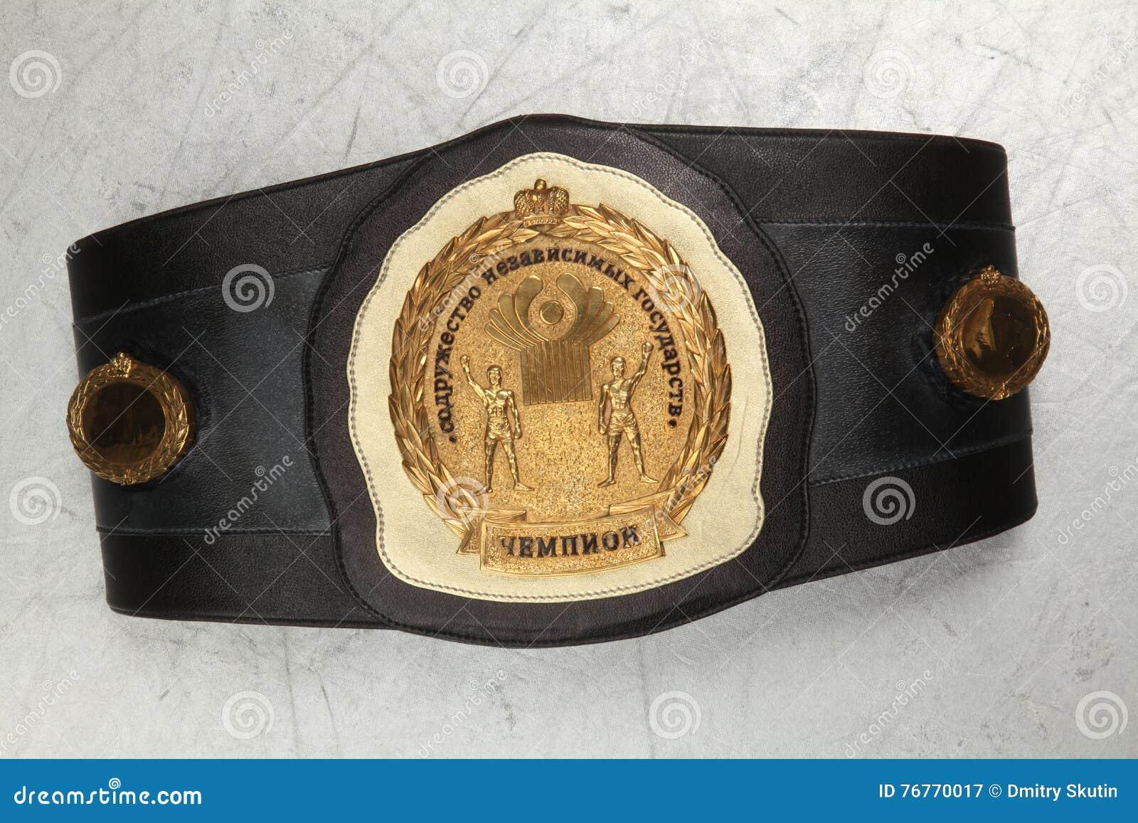Een riem van de kampioen bij het In dozen doen