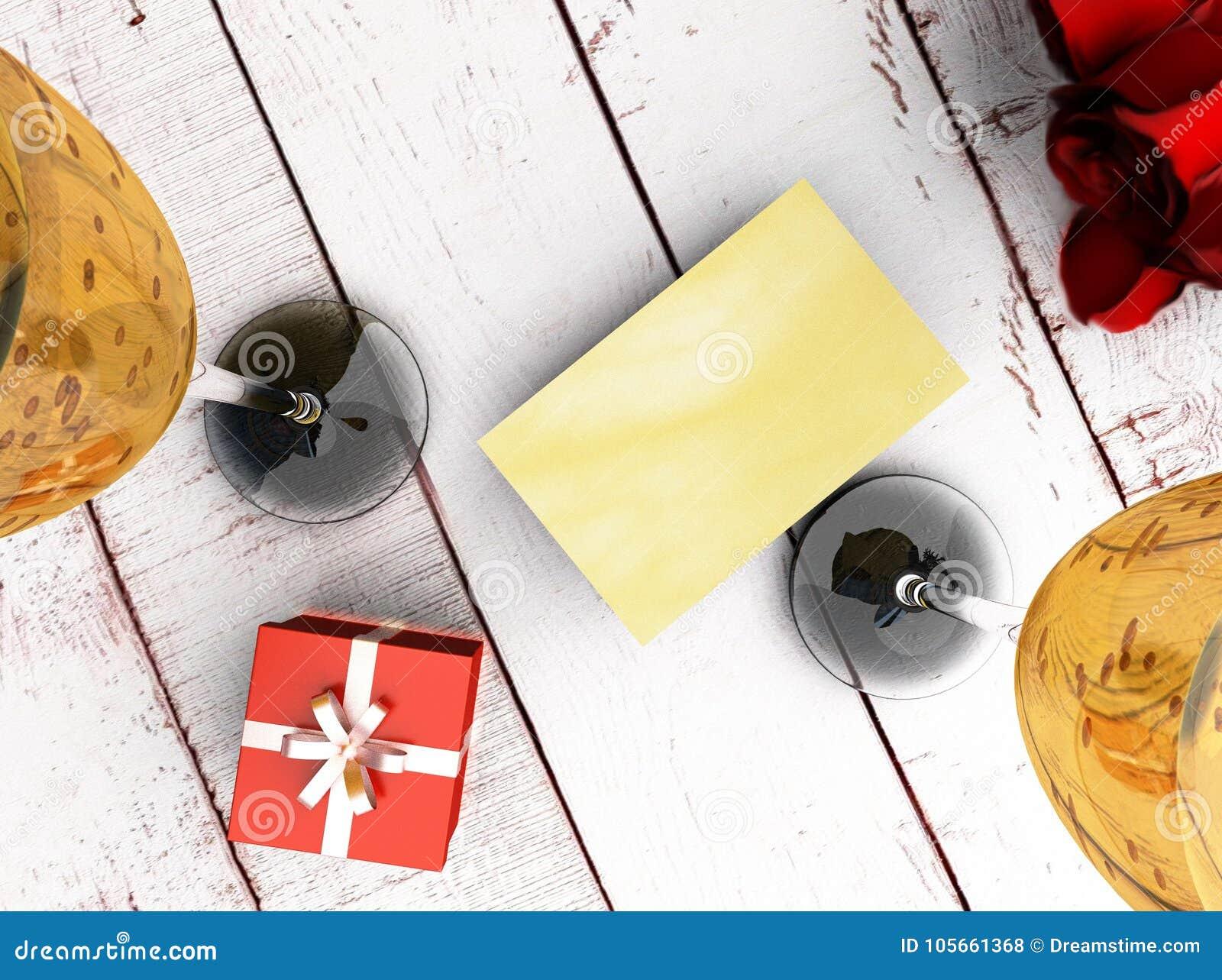 Een Romantische Ecard Stock Foto Afbeelding Bestaande Uit