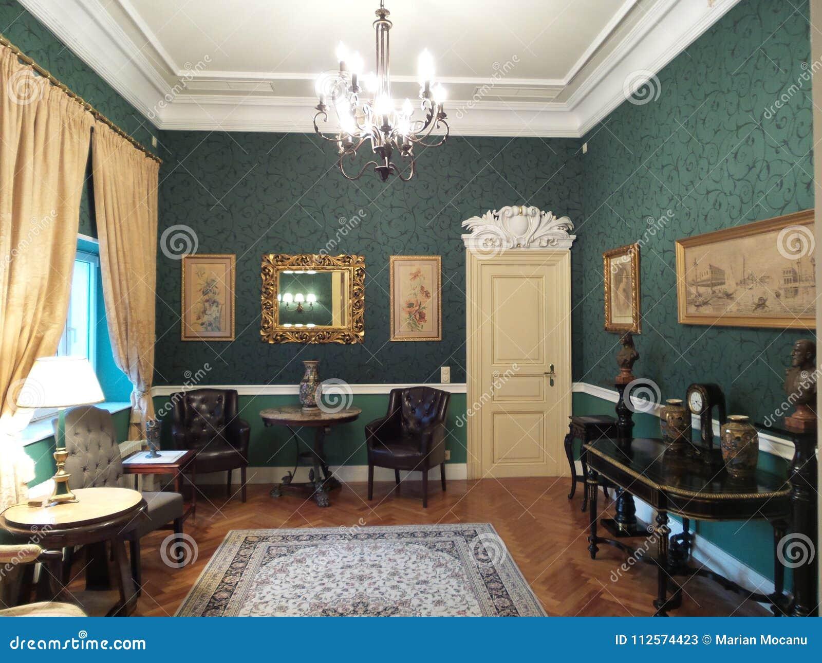 Een ruimte in het Iulia Hasdeu-paleis