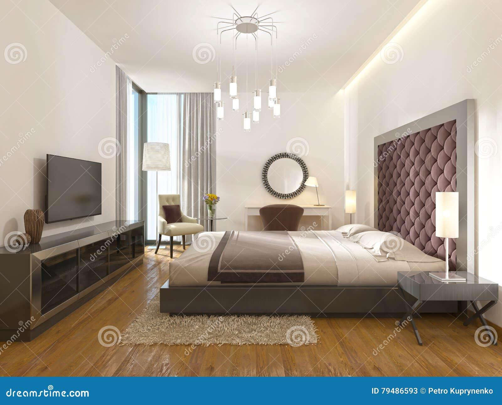 Een ruimte van het luxehotel in art deco stock illustratie