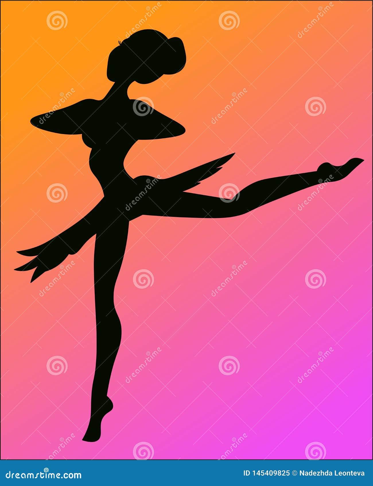 Een silhouet van ballerina
