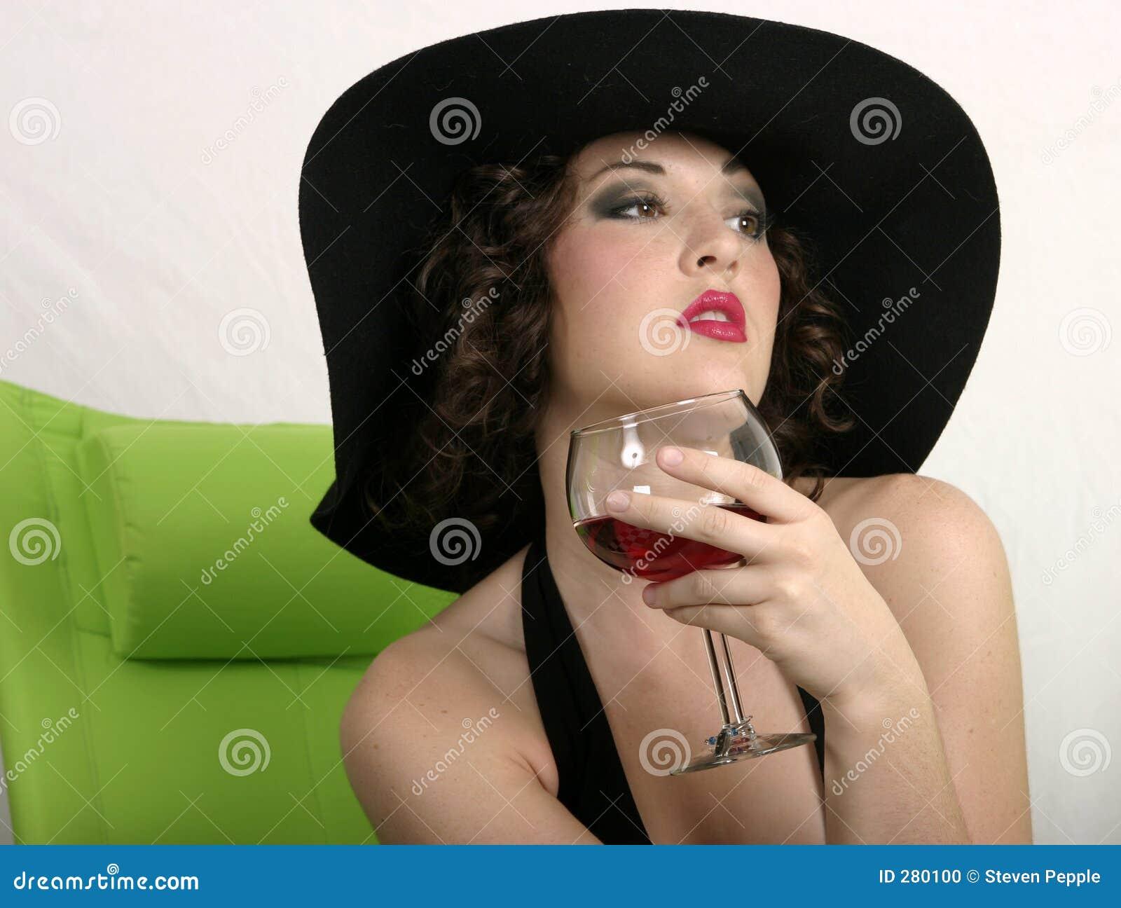 Een slokje van wijn