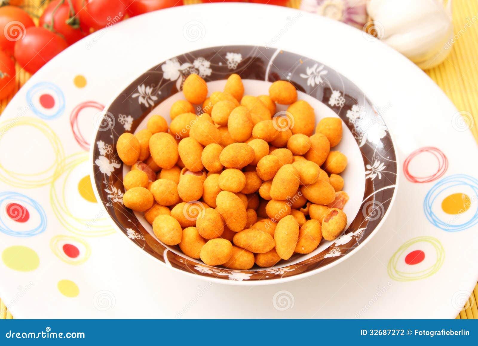 Een snack van pinda s