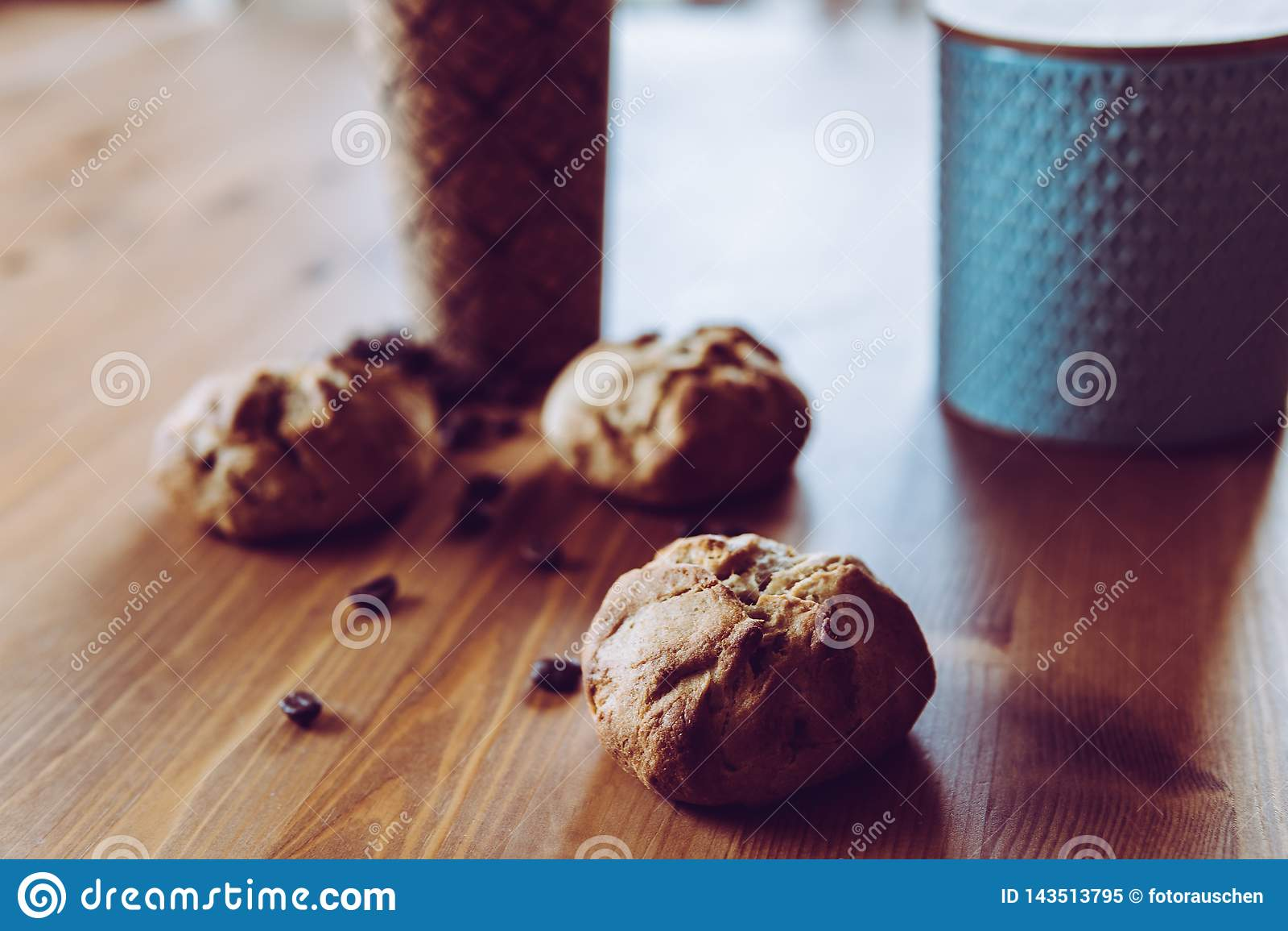 Een snel ontbijt - brood en koffie