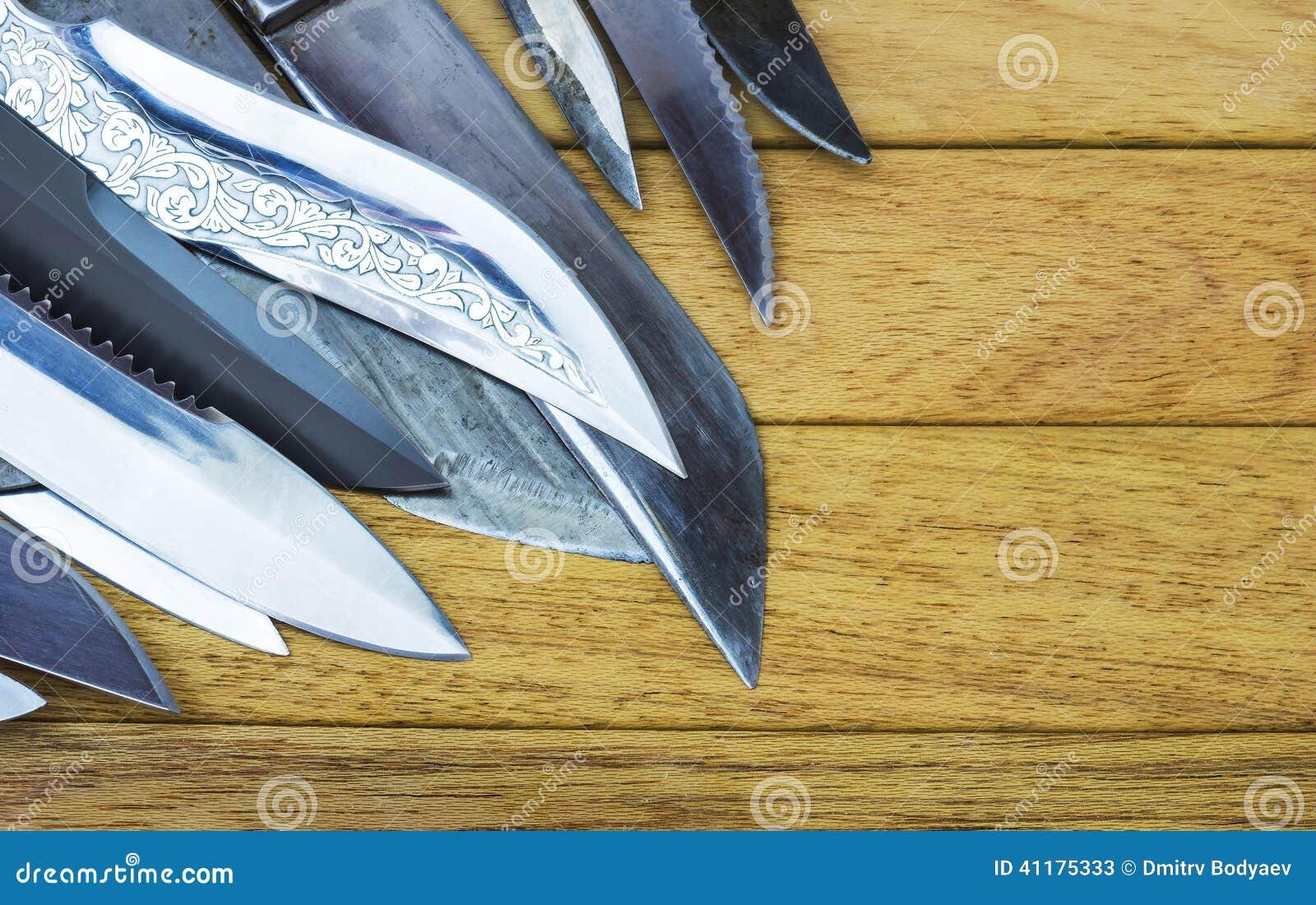 Een stapel van messen