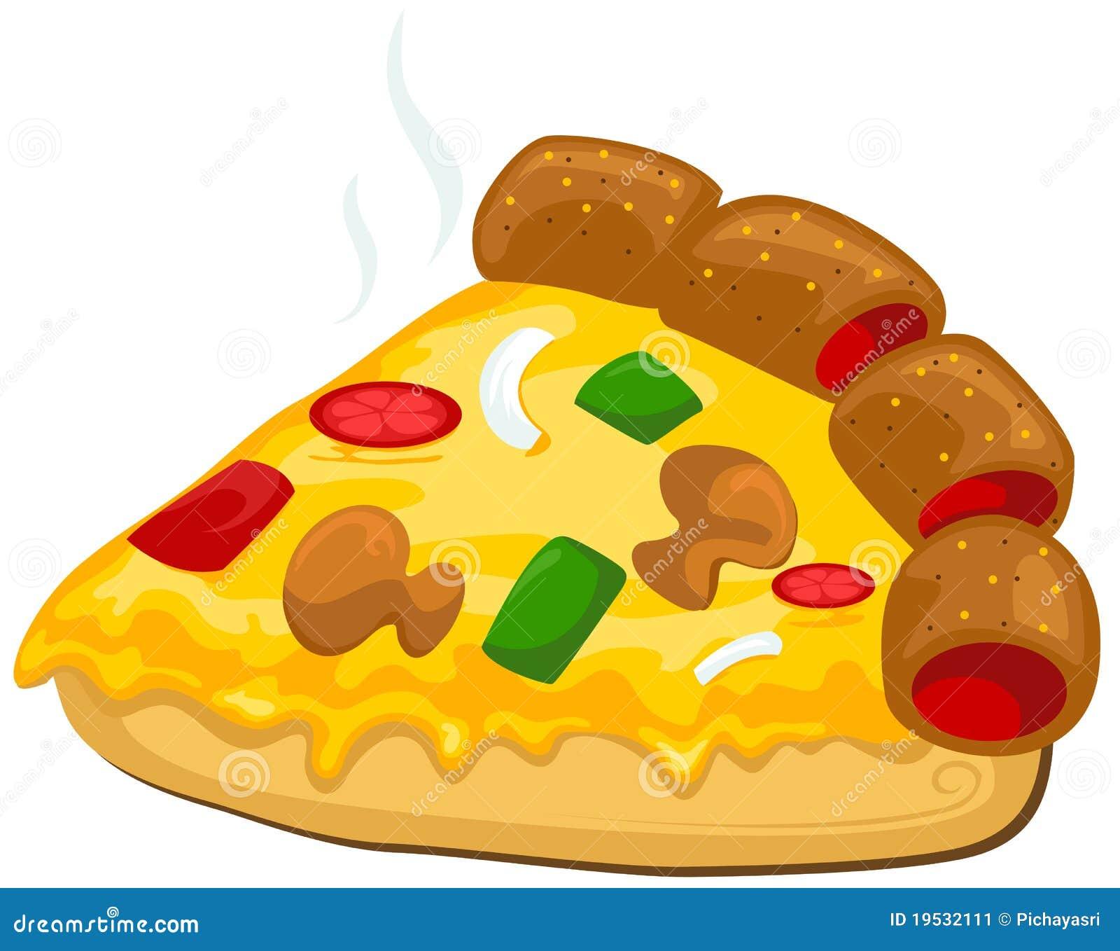 Een stuk van pizza stock afbeelding afbeelding 19532111 - Hoek maaltijd ...