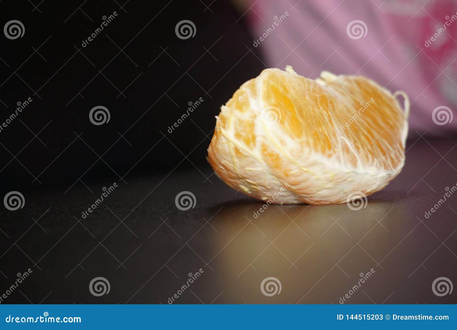 Een stuk van sinaasappel