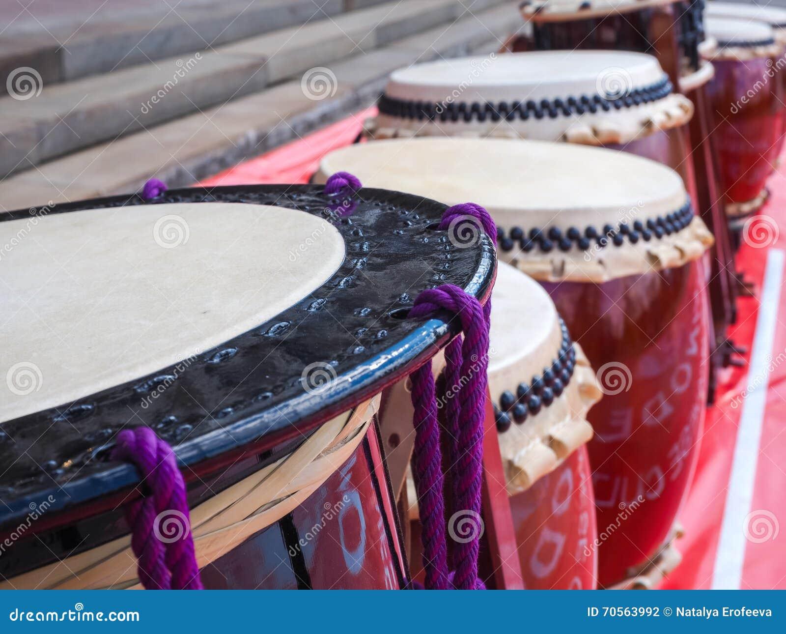 Een traditioneel Japans slaginstrument Taiko