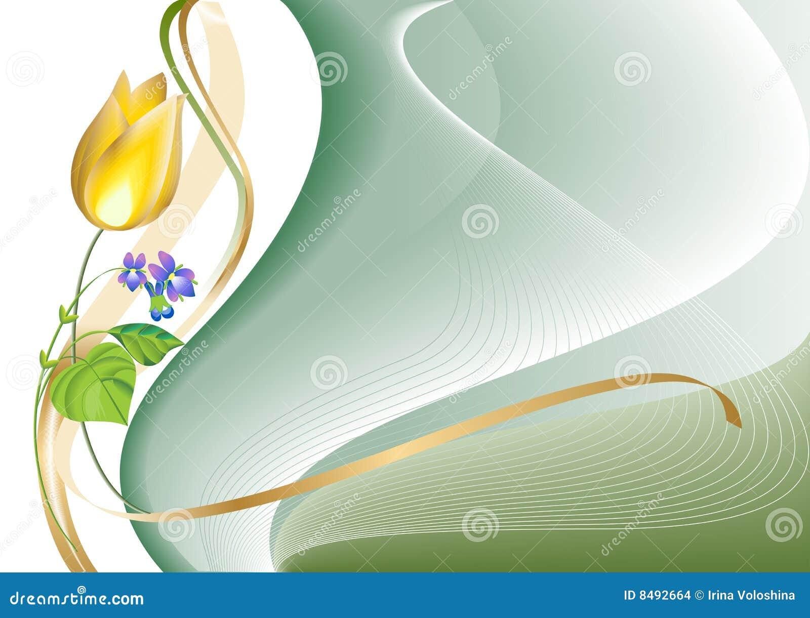 Een tulp en een viooltje