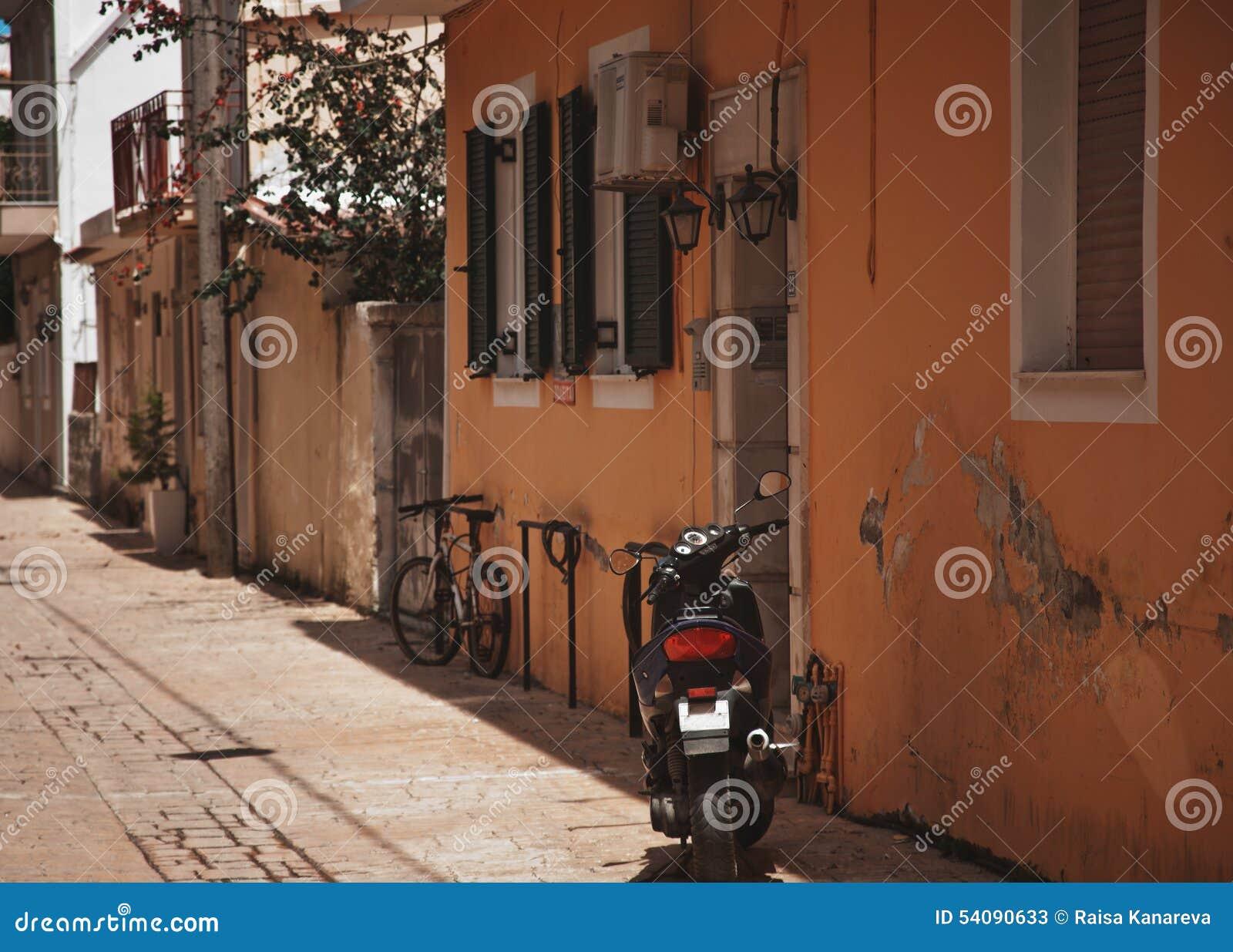 Een typische straat in Zante-Stad