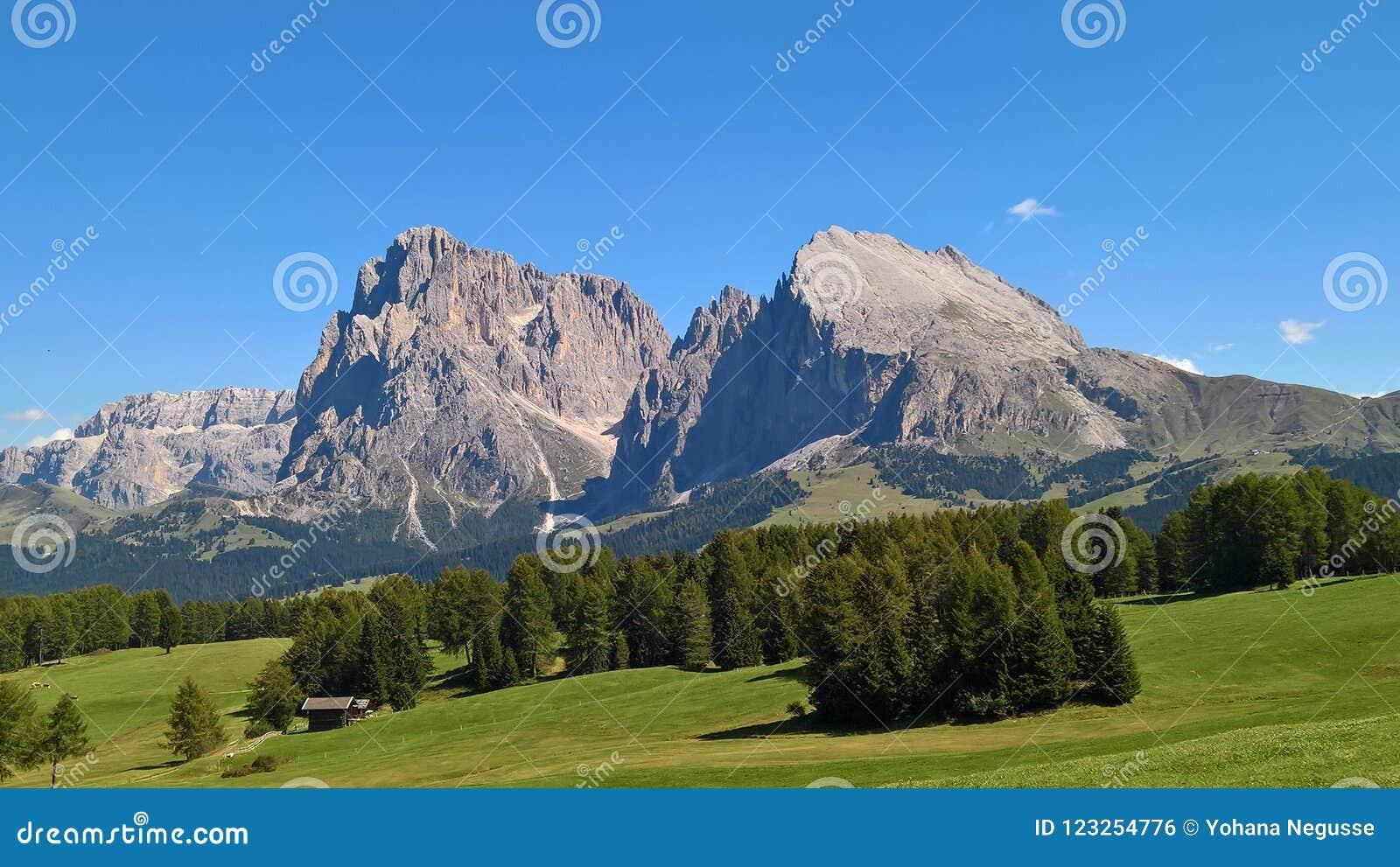 Een verbazende titel van het dolomiet van Trento Italië
