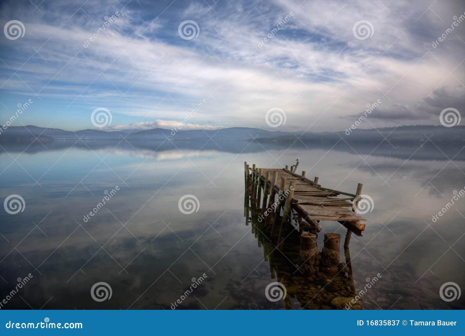 Een verlaten pijler