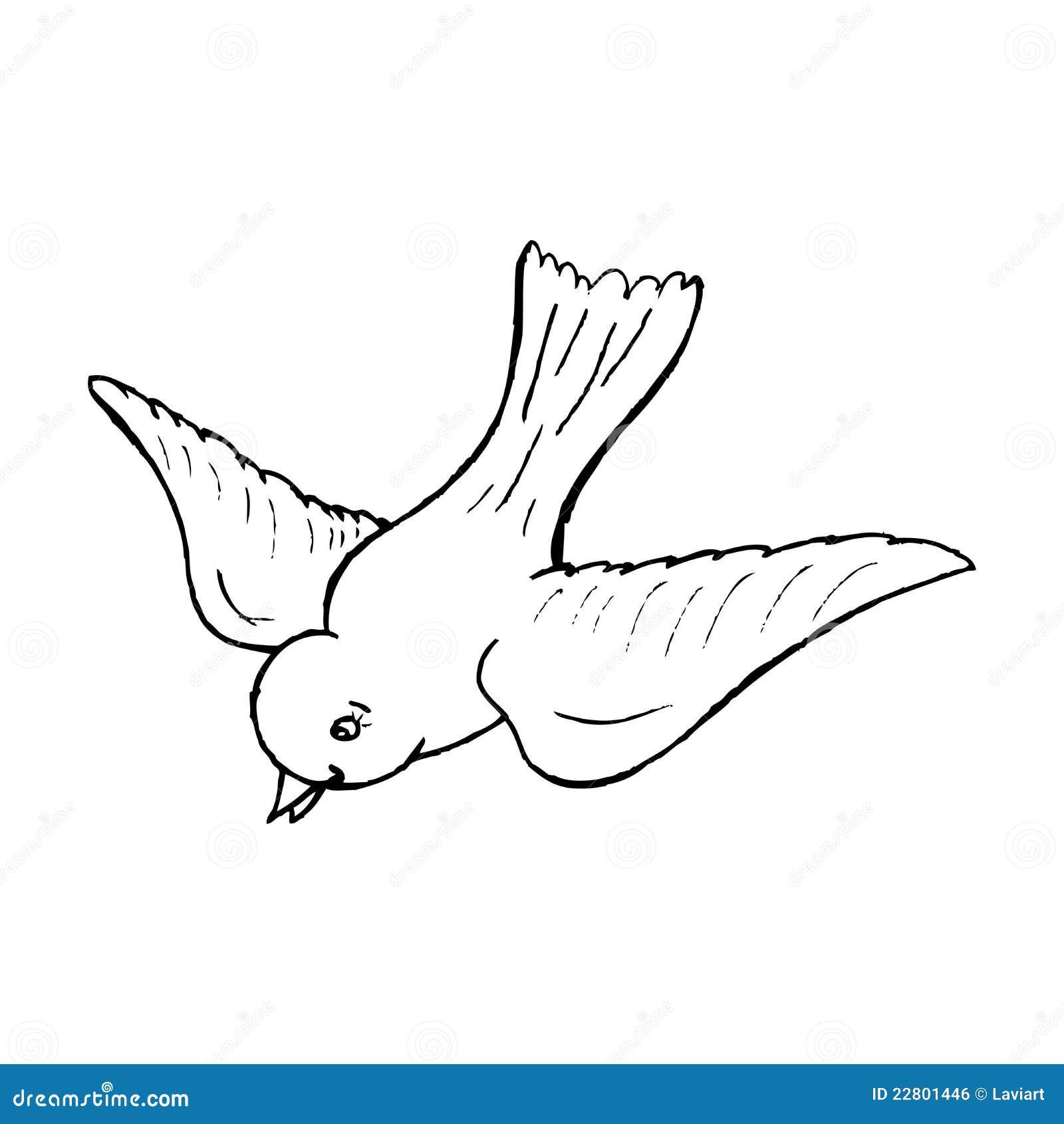 een vliegende vogel royalty vrije stock afbeelding beeld