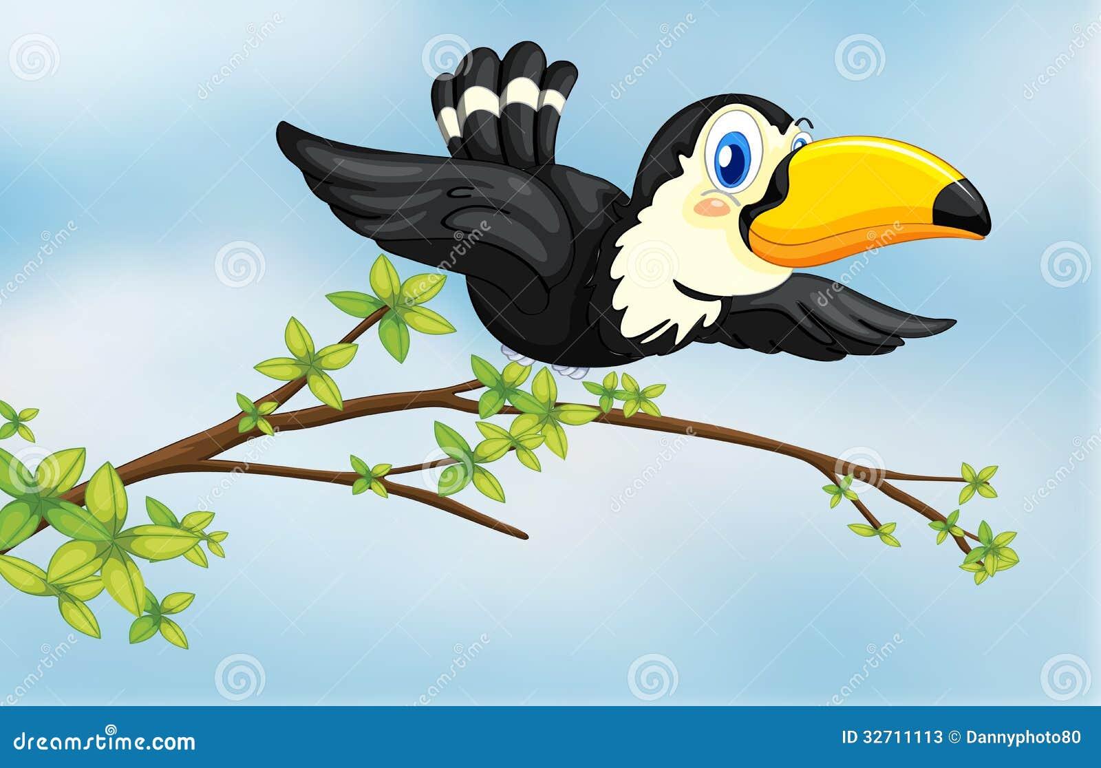 Een vliegende vogel