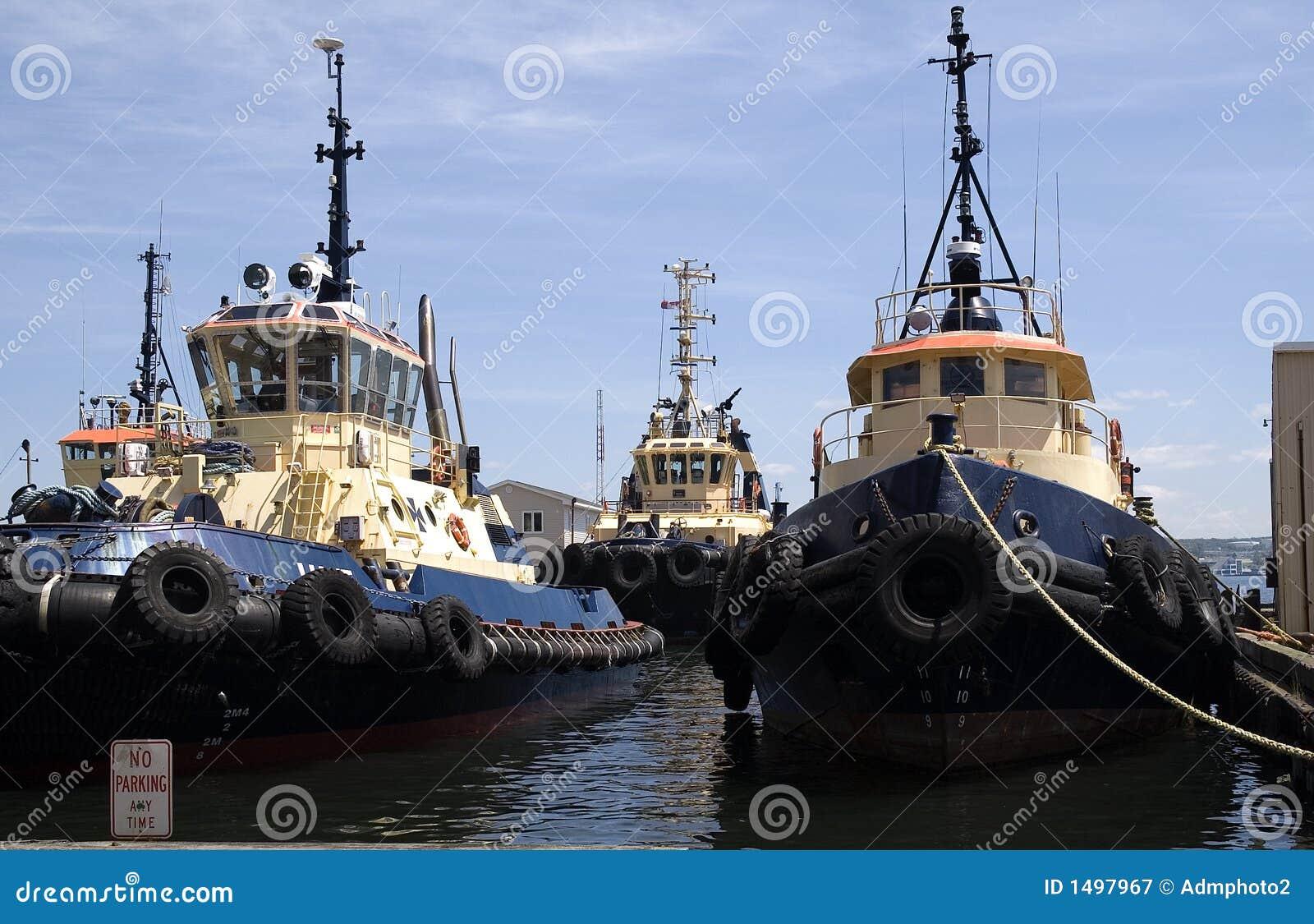 Een vloot van boten