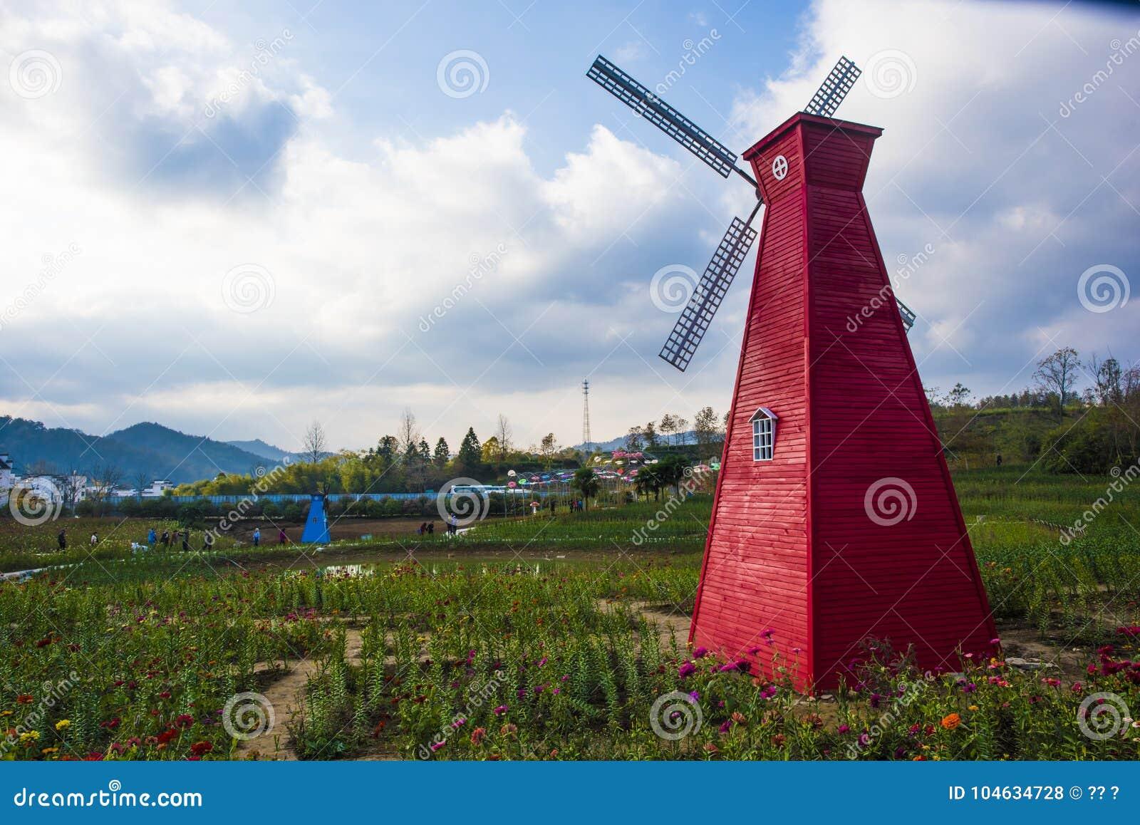 Download Een Windmolen In Huangshan Ten Westen Van Huangshan, Anhuiprovincie Redactionele Stock Foto - Afbeelding bestaande uit gevestigd, standbeeld: 104634728