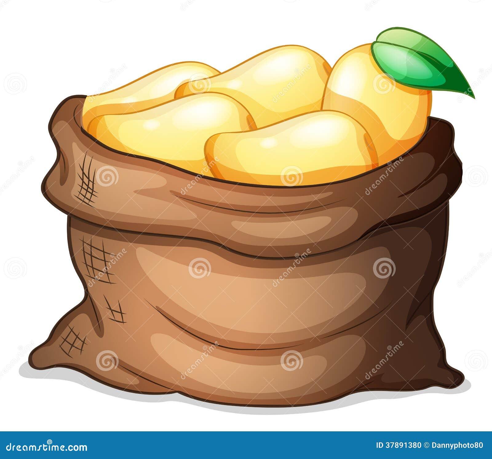 Een zak van rijpe mango s