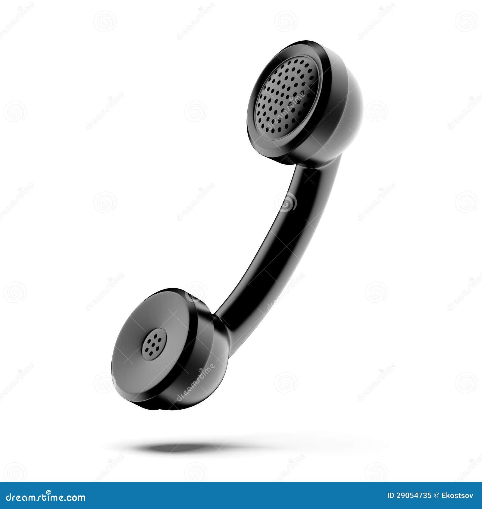 Een zwarte telefoonzaktelefoon