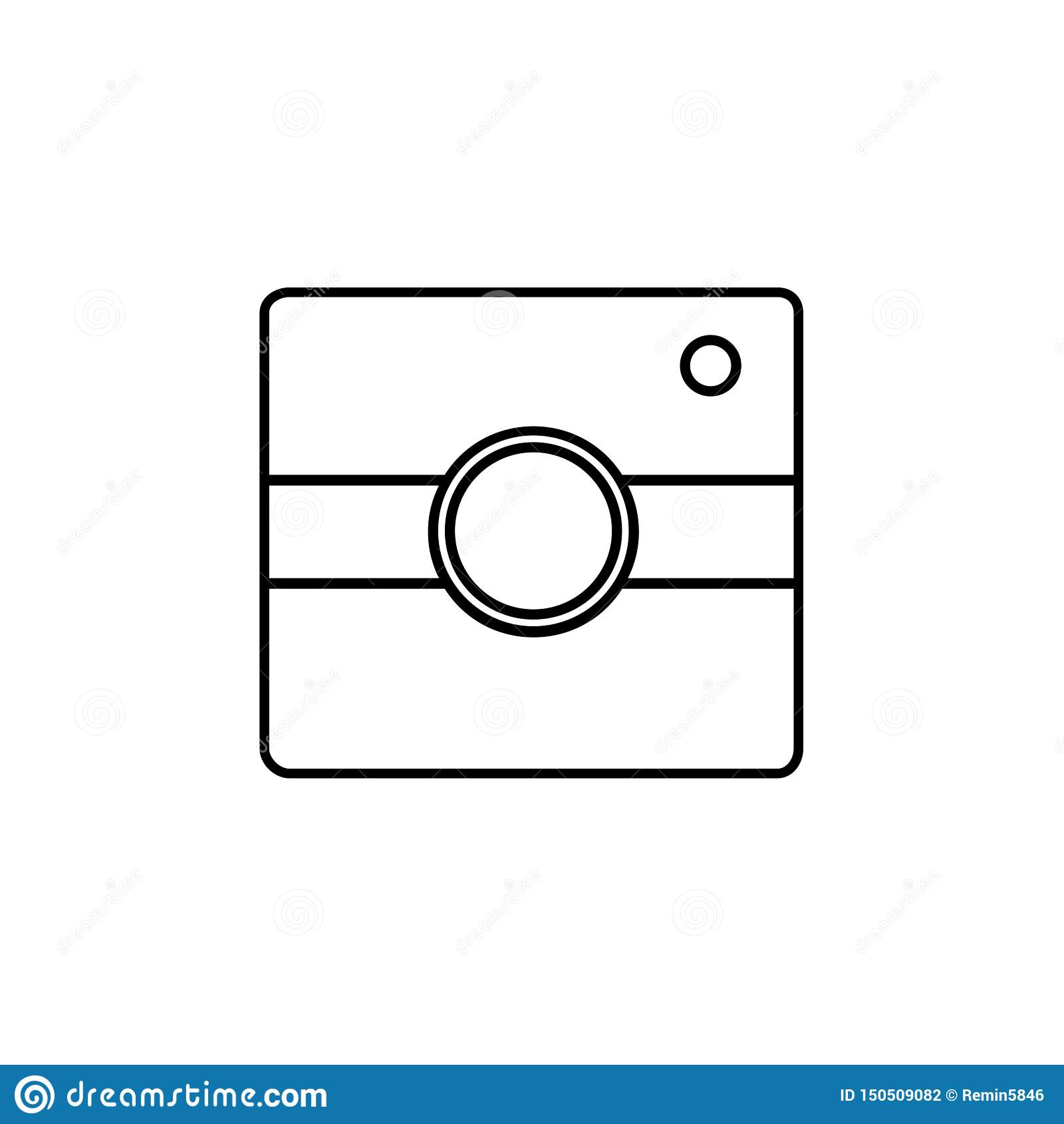 Eenvoudig camerapictogram Instagramteken