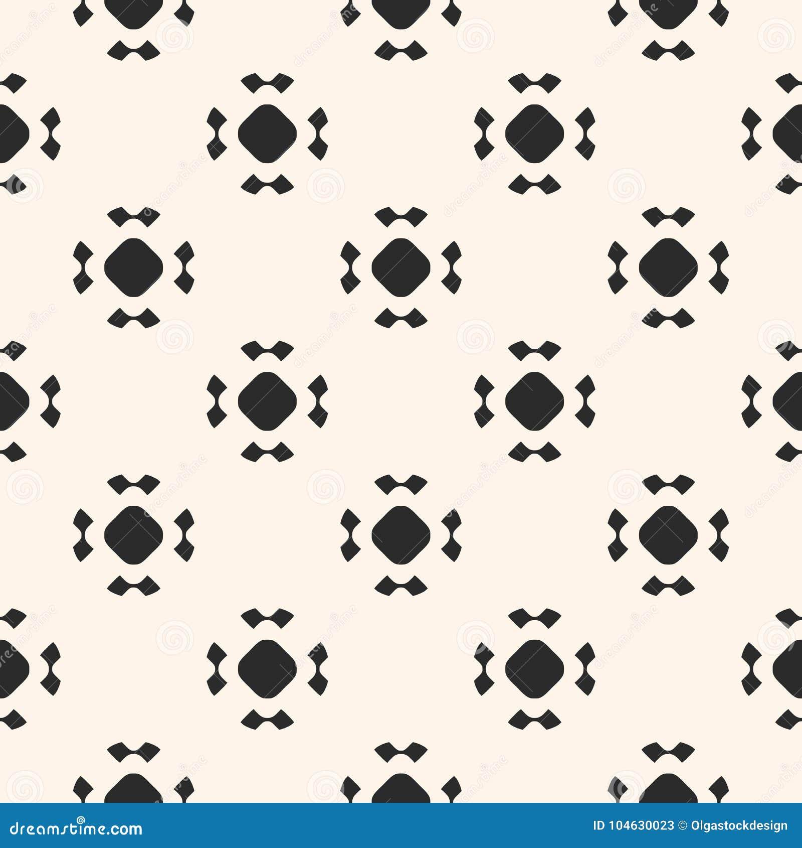 Download Eenvoudig Naadloos Patroon Met Rond Gemaakte Cijfers, Bloemenvormen Vector Illustratie - Illustratie bestaande uit hipster, ontwerp: 104630023
