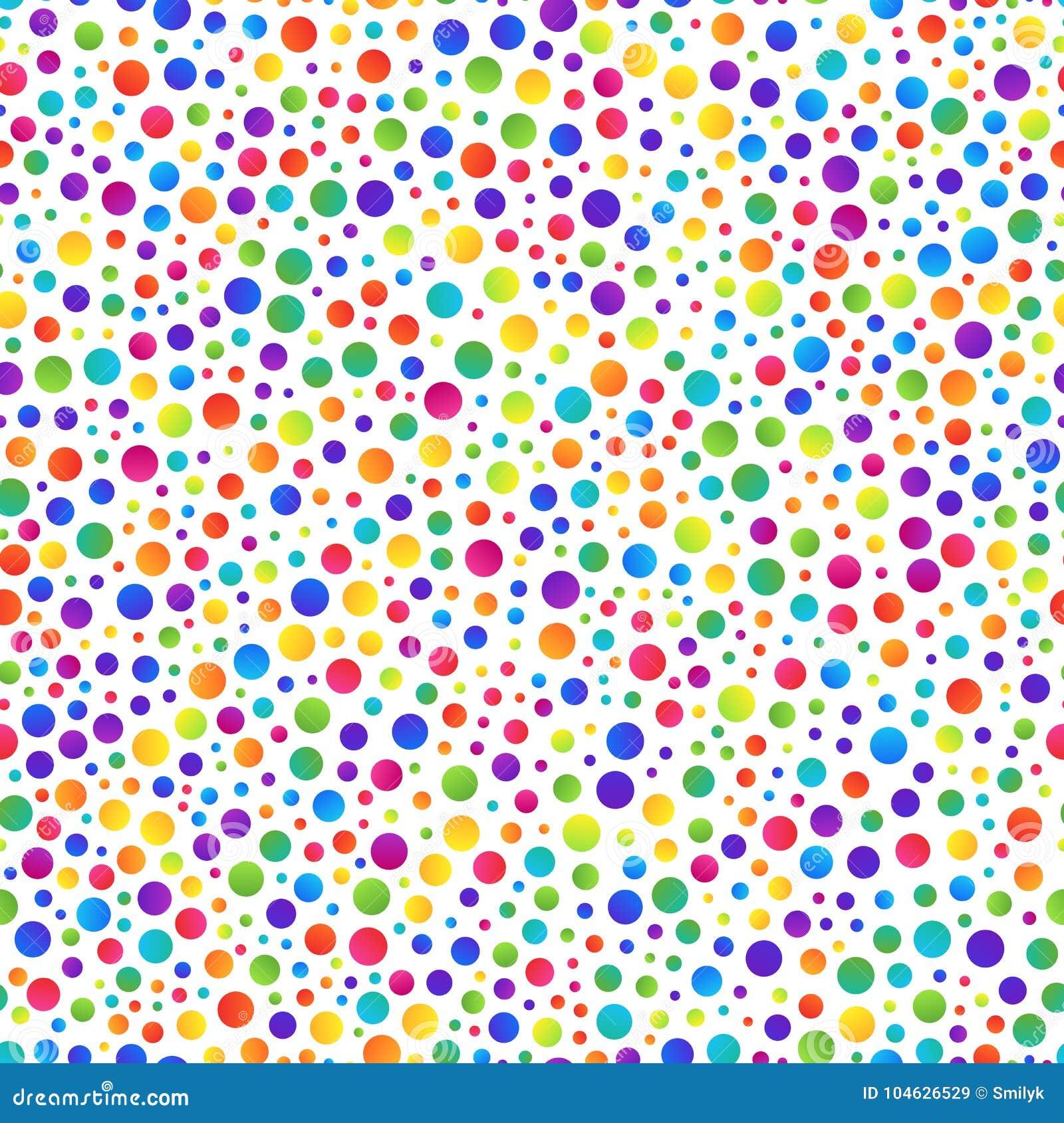 Download Eenvoudig Naadloos Patroon Van Gradiënt Kleurrijke Cirkels Op Wit Vector Illustratie - Illustratie bestaande uit cirkel, veelkleurig: 104626529