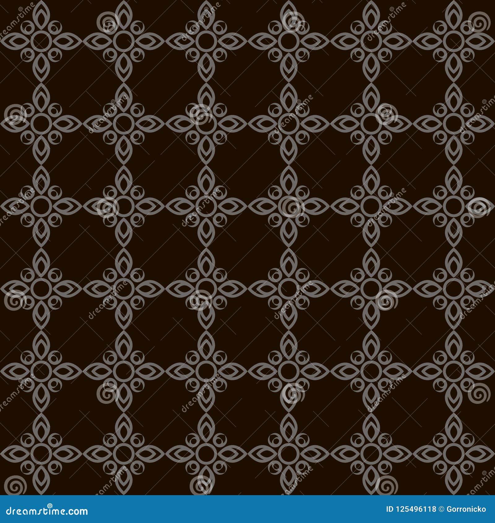 Eenvoudig vlak kunst zwart-wit naadloos patroon met zwarte achtergrond