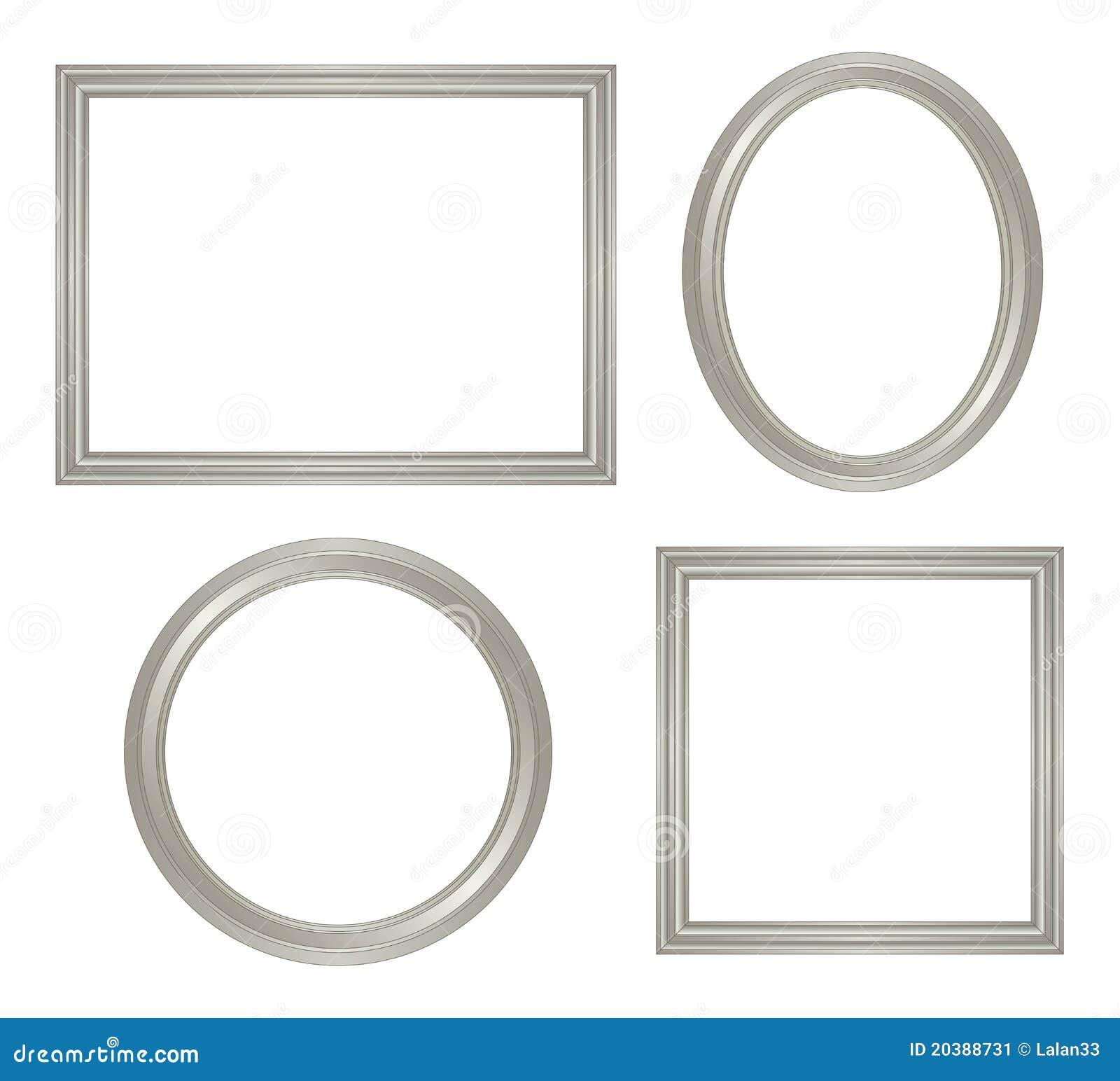 Eenvoudig zilveren frame