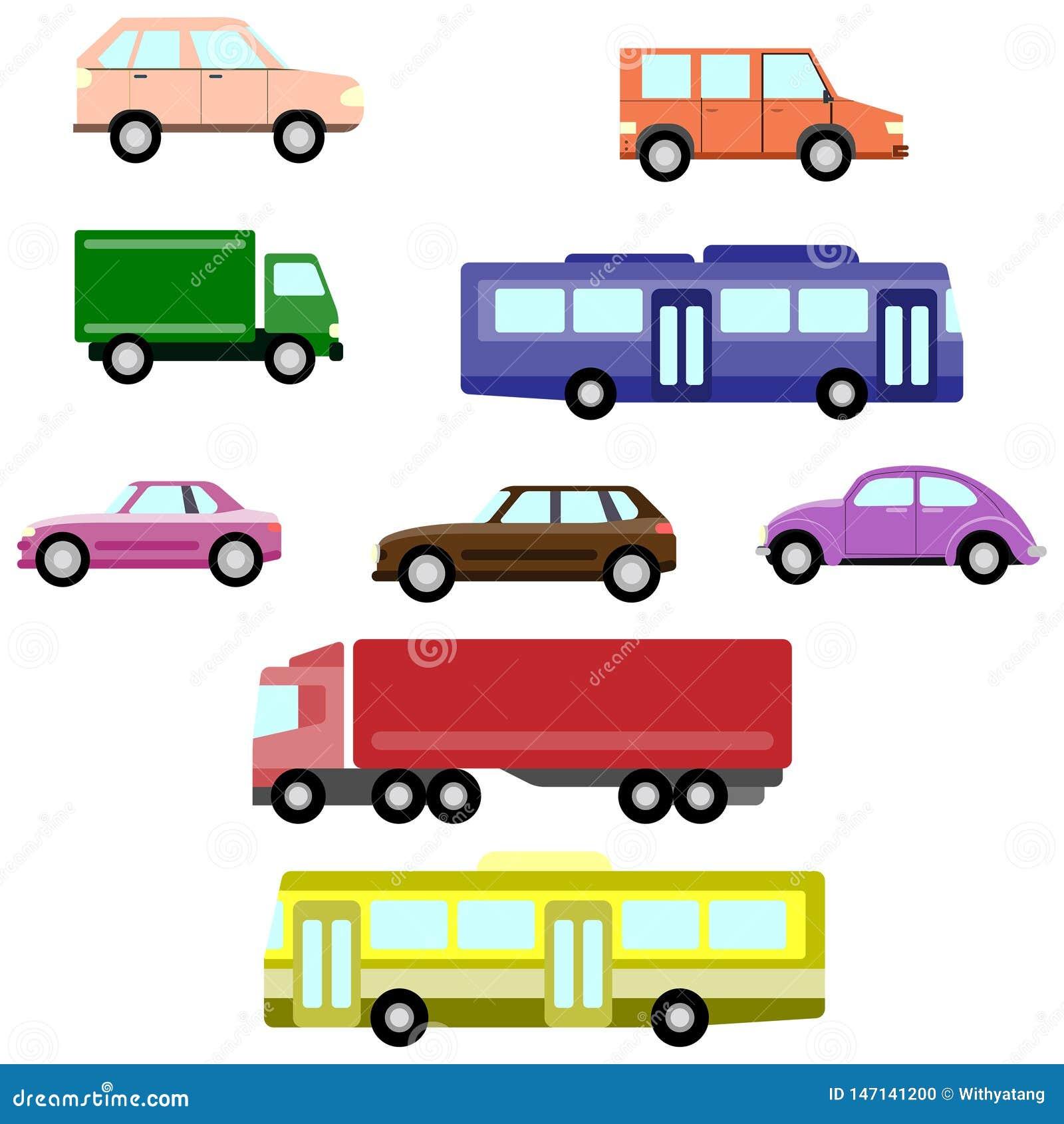 Eenvoudige auto s en van het Auto spictogram reeks