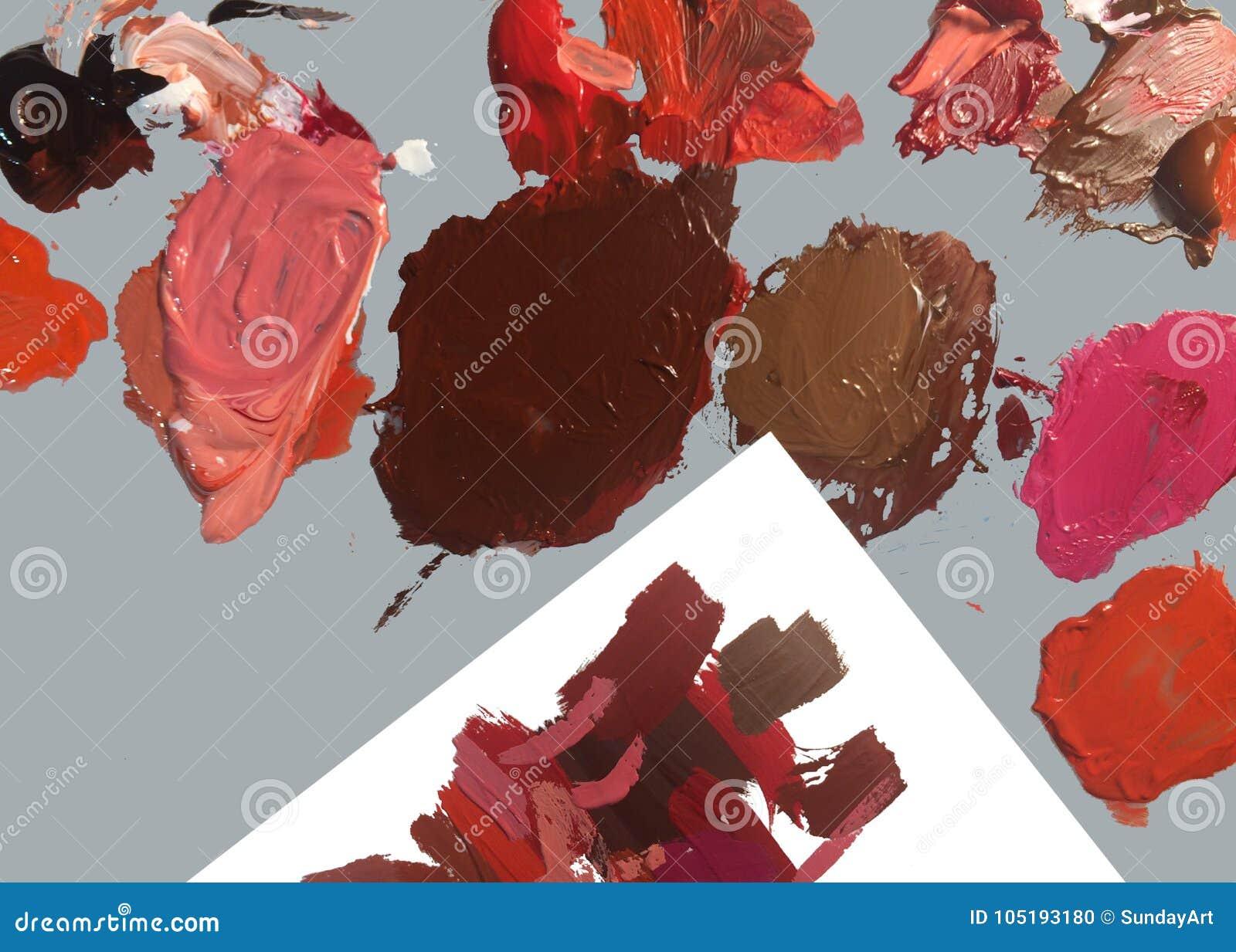 Eenvoudige fotoachtergrond van borstel en verf
