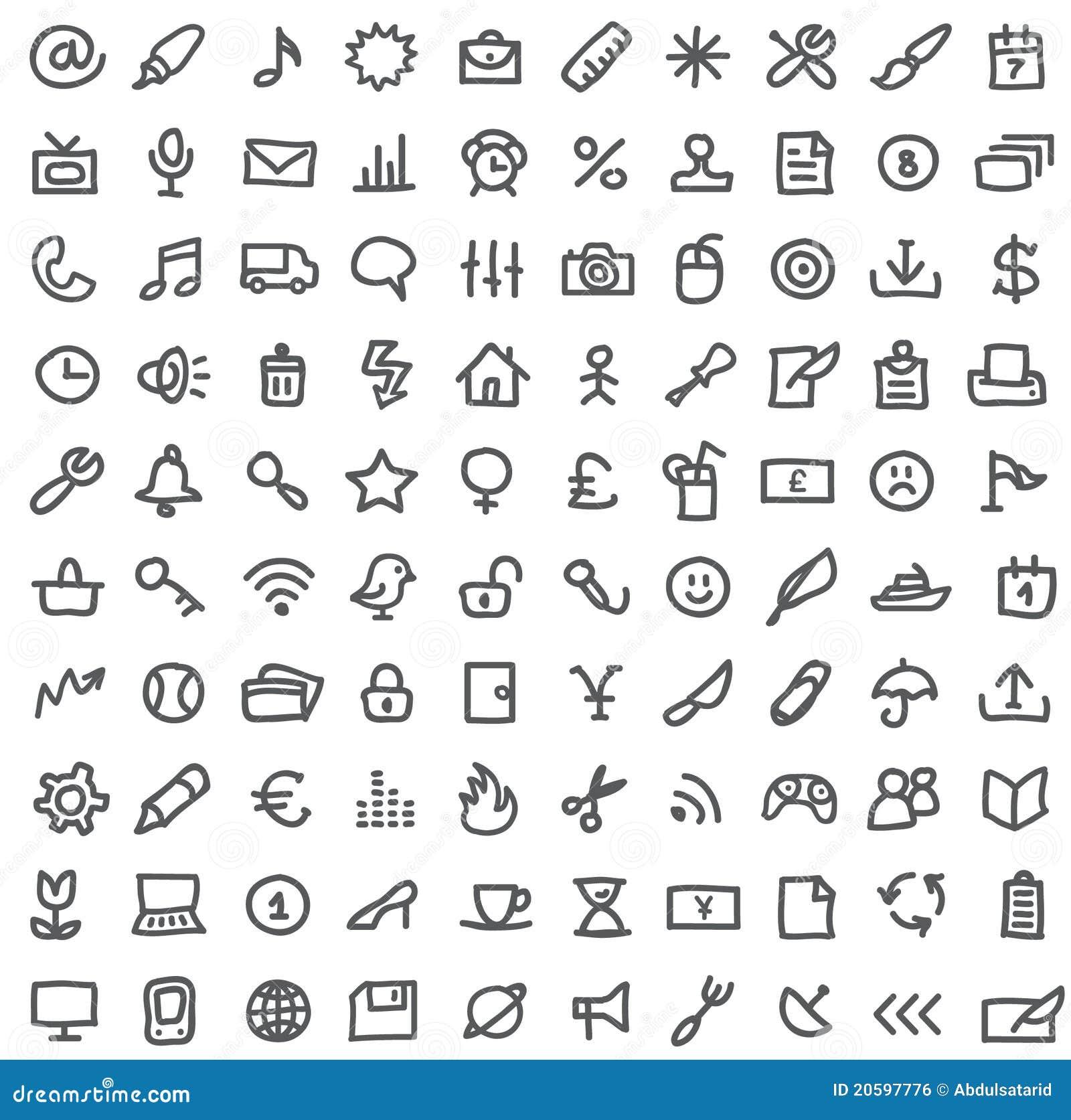 Eenvoudige pictogramreeks