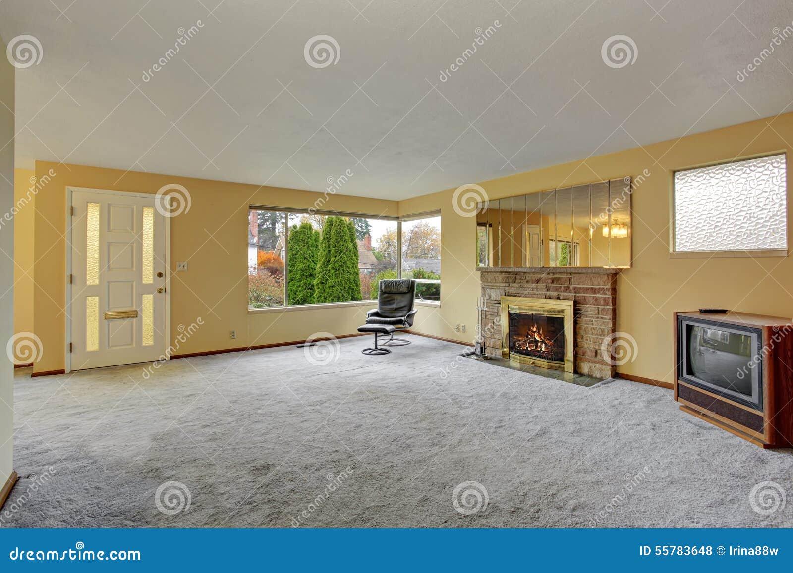 Eenvoudige woonkamer met tapijt stock foto   afbeelding: 55783648
