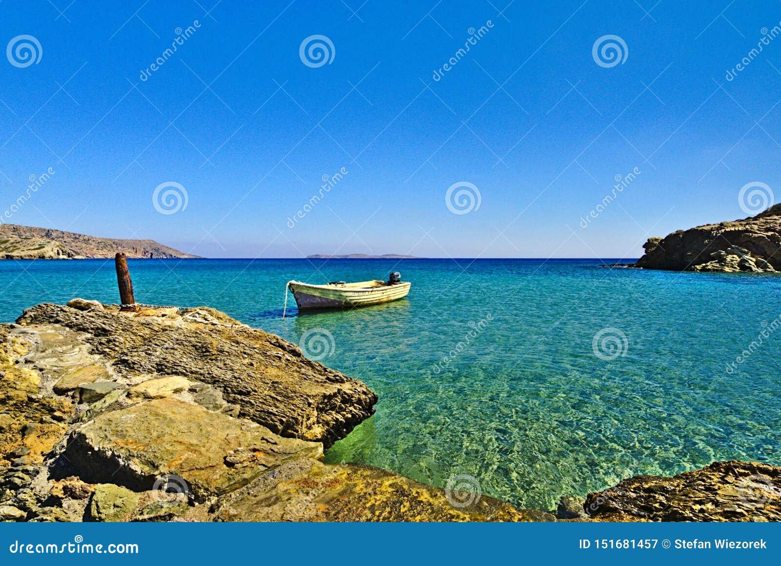 Eenzame Boot Kreta, Griekenland