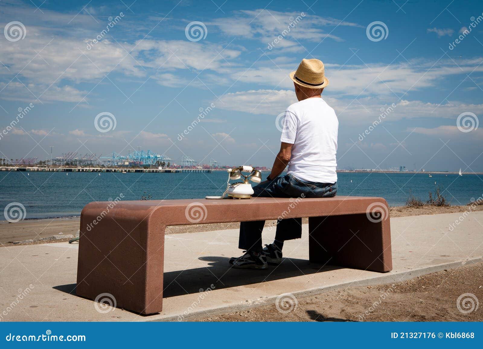 Eenzame oude mens