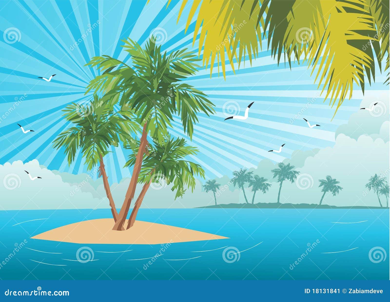 Eenzame palm