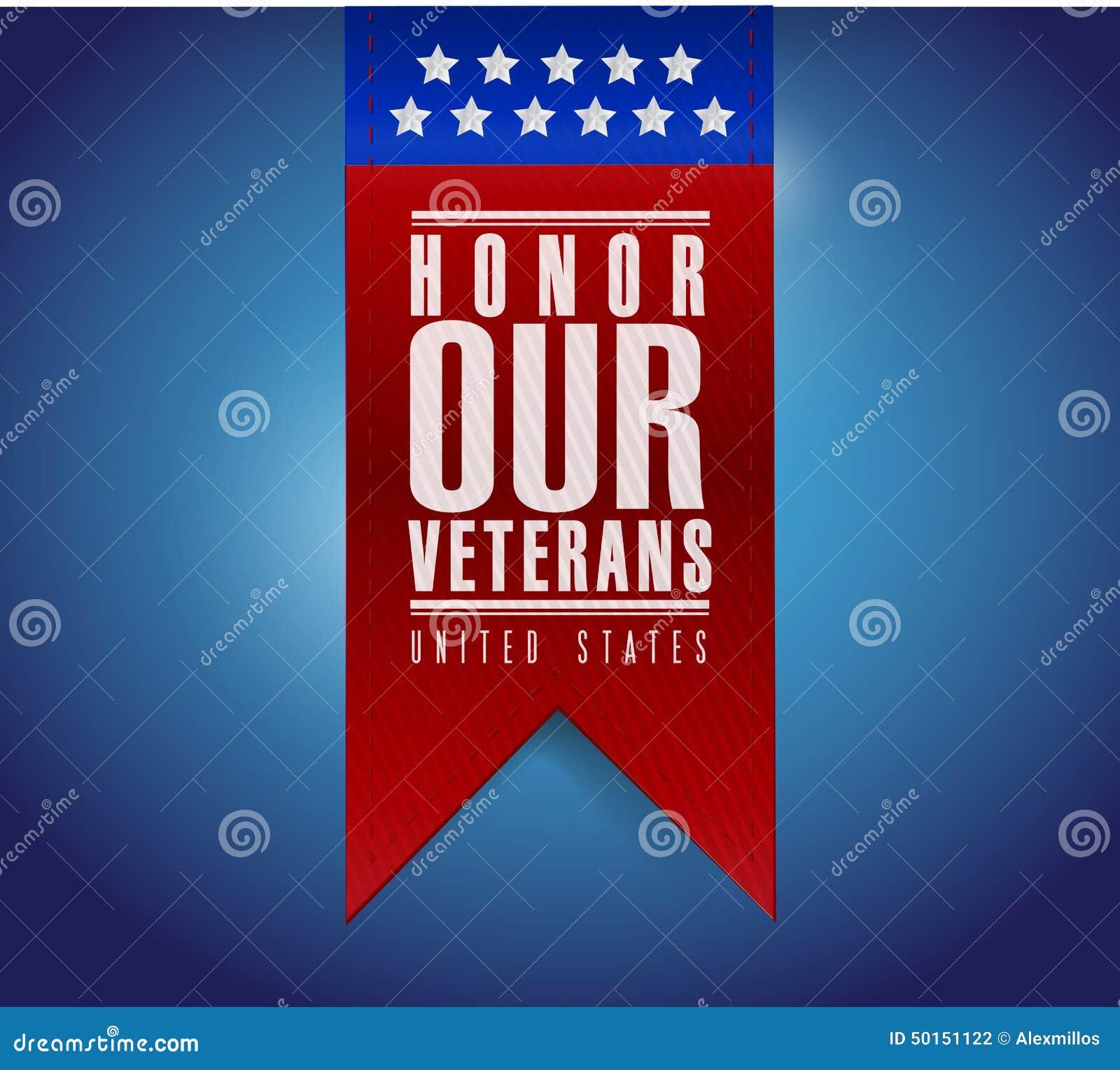 Eer ons ontwerp van de het tekenillustratie van de veteranenbanner