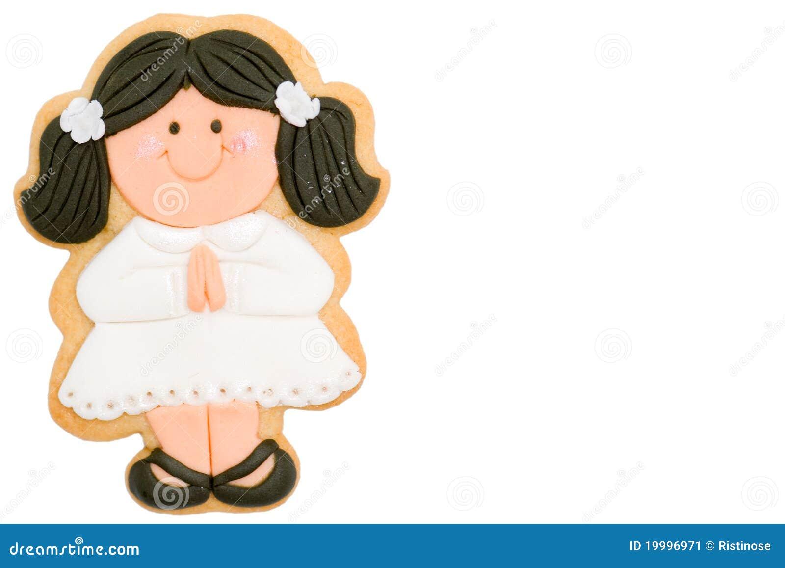 Eerste de kerkgemeenschapherinnering van het meisje