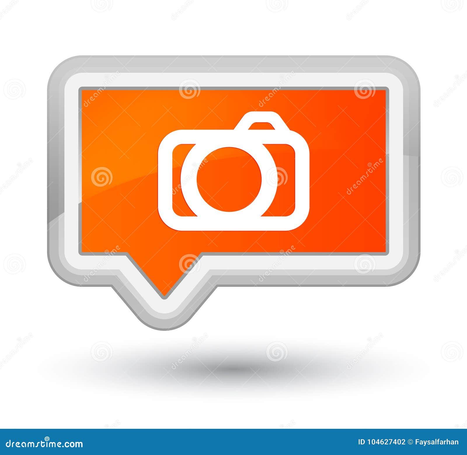 Download Eerste Oranje De Bannerknoop Van Het Camerapictogram Stock Illustratie - Illustratie bestaande uit beeld, eerste: 104627402