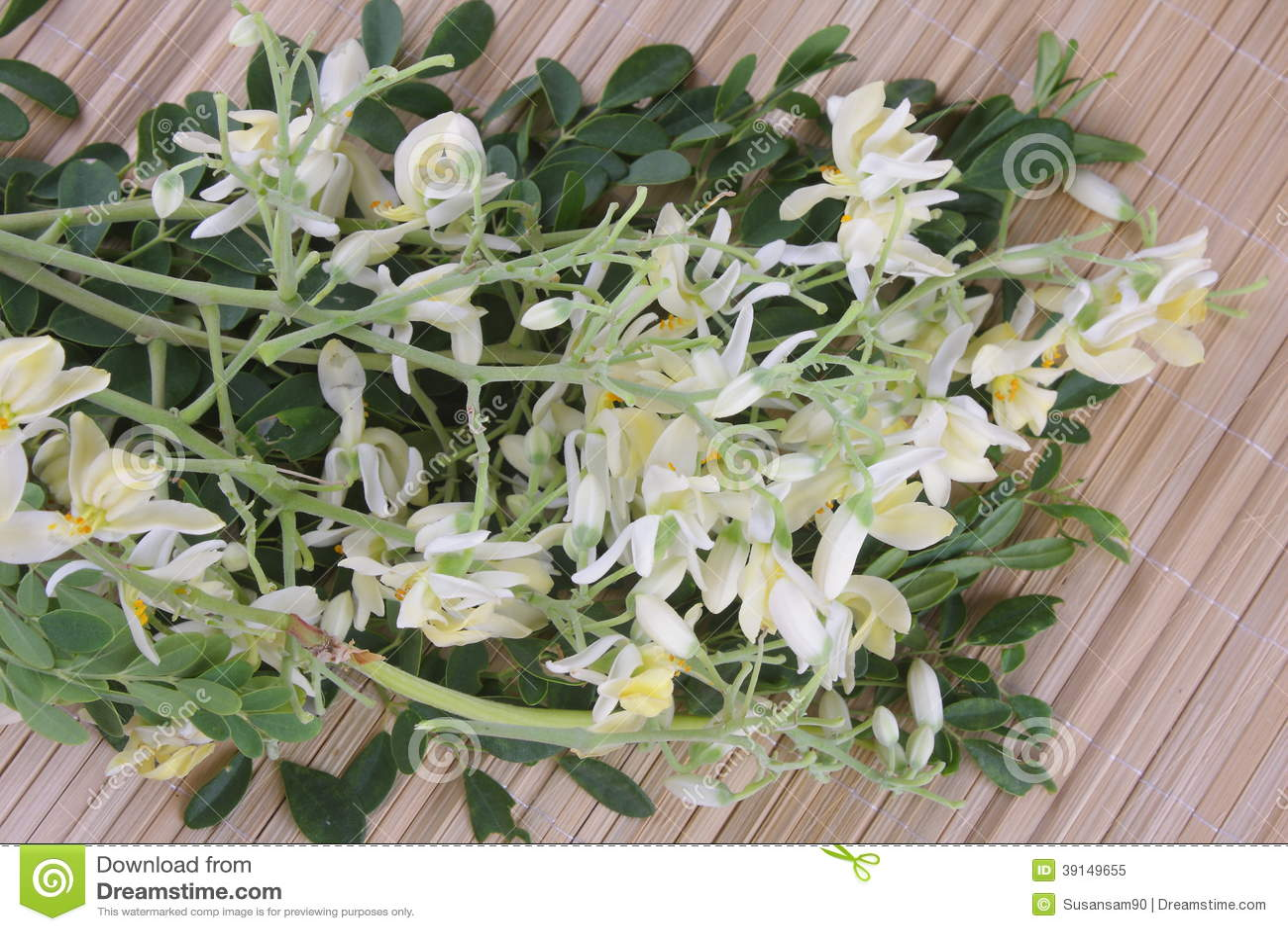 Eetbare moringa bloem