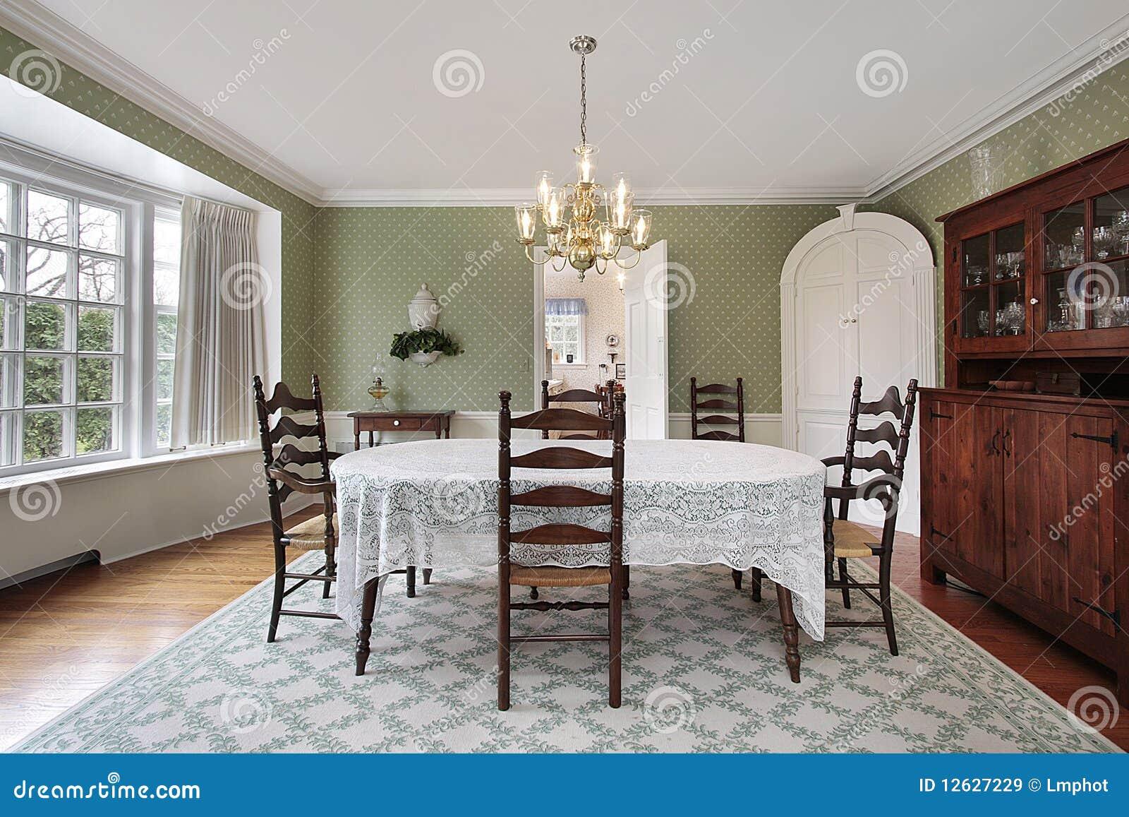 Eetkamer met gebogen erker stock afbeelding afbeelding bestaande uit tapijt 12627229 - Tapijt eetkamer ...